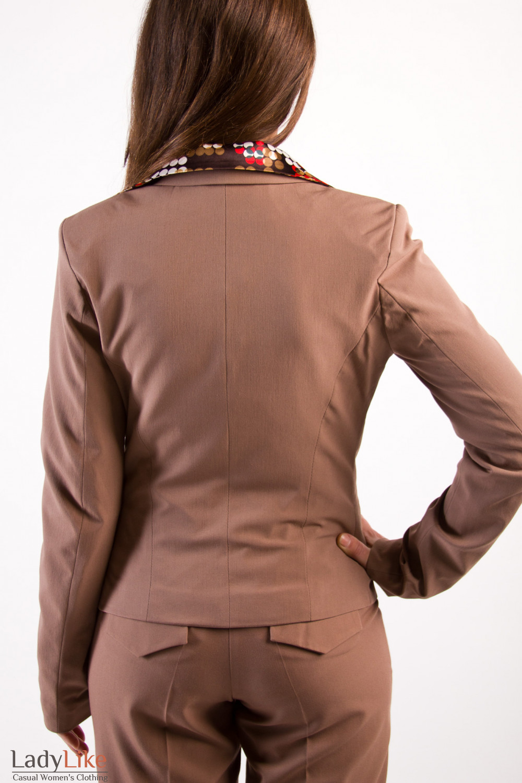 Фото Костюм коричневый Деловая женская одежда