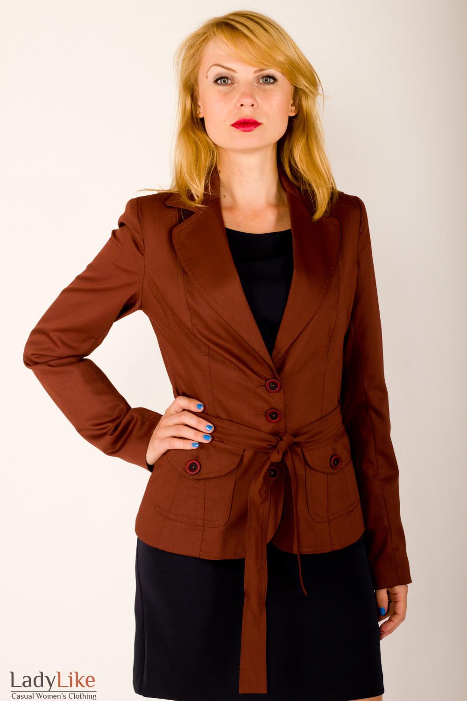 Фото Жакет с поясом Деловая женская одежда