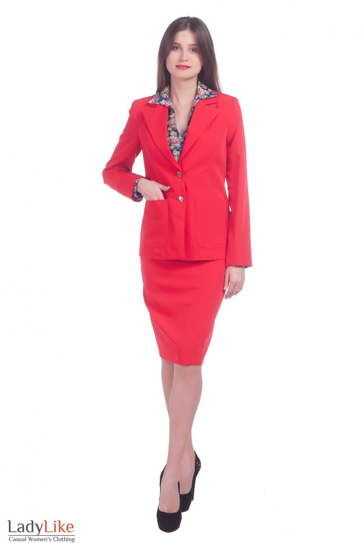 Фото Красный костюм Деловая женская одежда