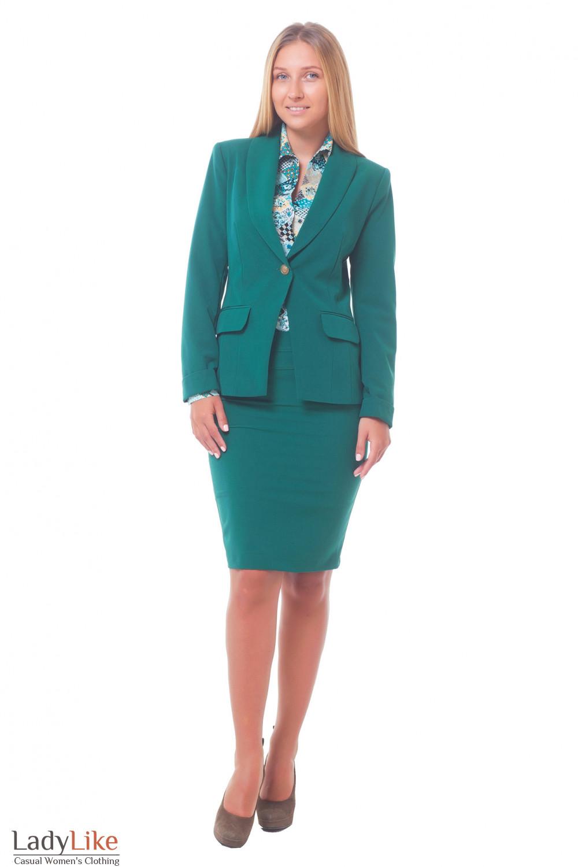 Купить зеленый женский костюм Деловая женская одежда