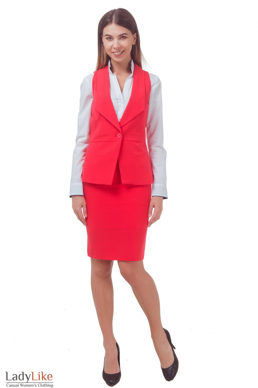 Купить жилет коралловый Деловая женская одежда