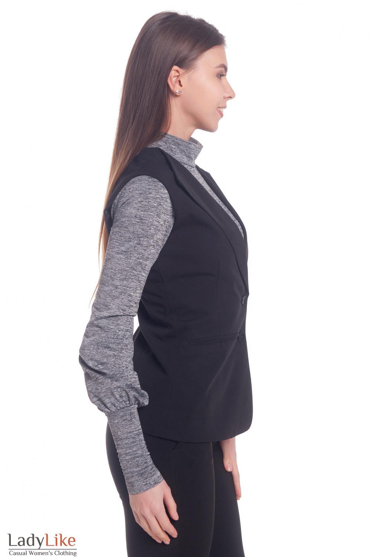 Купить жилет женский удлиненный черный Деловая женская одежда