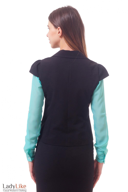 Фото Жилетка на одну пуговицу Деловая женская одежда