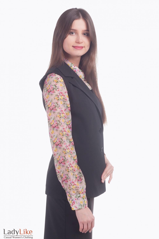 Фото Жилетка длинная Деловая женская одежда