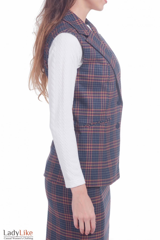 Фото Жилетка удлиненная Деловая женская одежда