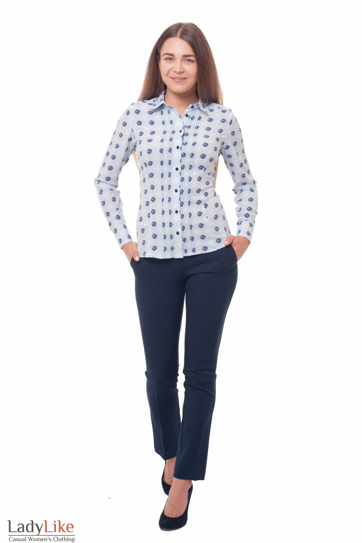 Блузка-рубашка Деловая женская одежда фото