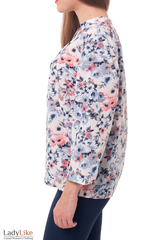 Купить блузку в цветы Деловая женская одежда фото