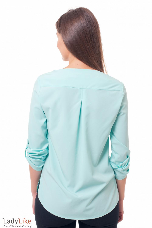 Блузка с удлиненной спинкой Деловая женская одежда фото