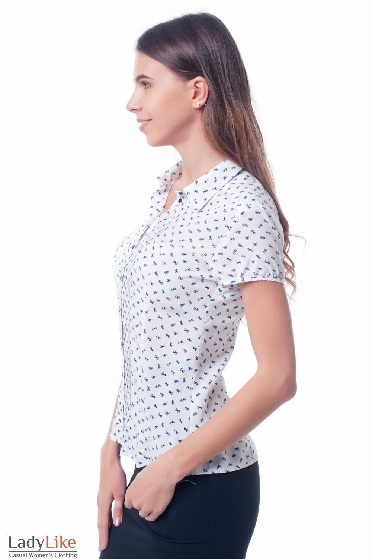 Купить женскую блузку в цветок Деловая женская одежда фото