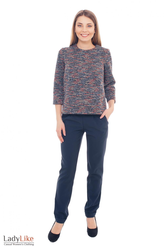 Купить теплые брюки с манжетами Деловая женская одежда фото