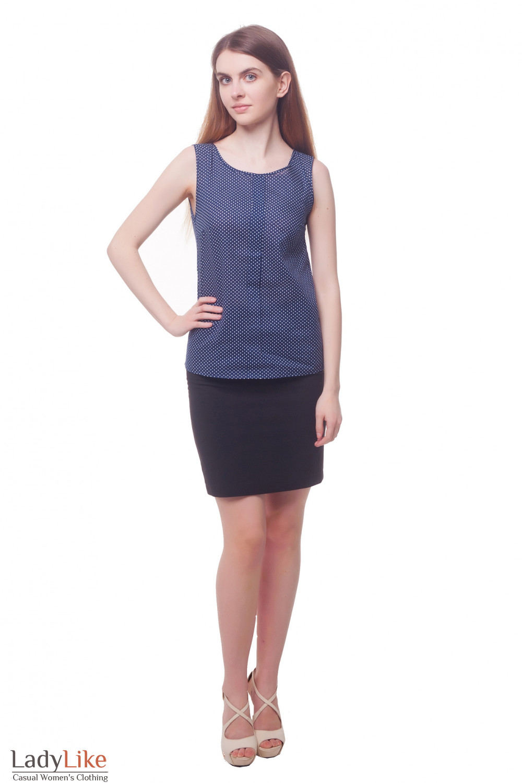 Купить черную юбку со шлевками на поясе Деловая женская одежда фото