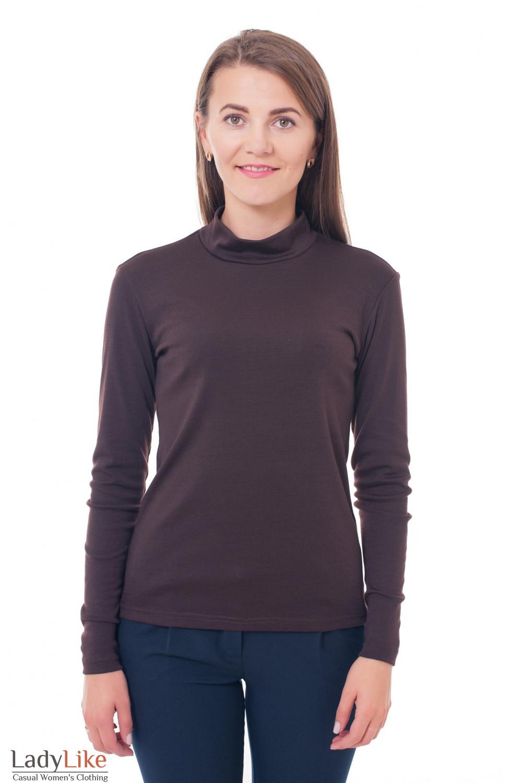 Гольф коричневый Деловая женская одежда фото