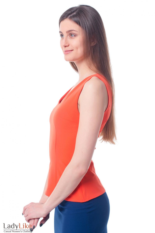 Купить яркий оранжевый топ Деловая женская одежда фото