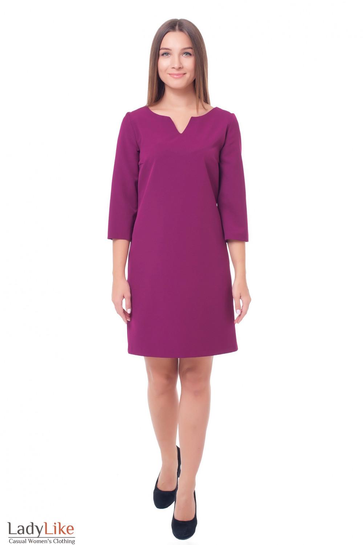 Купить платье цвета фуксия Деловая женская одежда фото