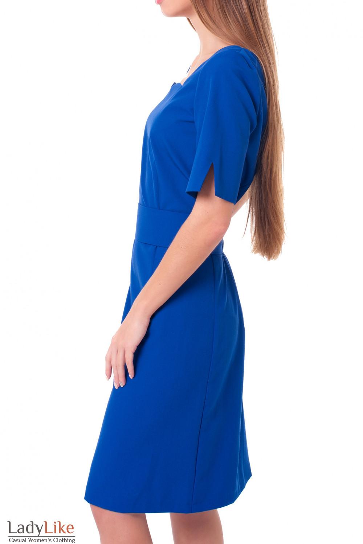 Купить платье электрик с отрезной талией Деловая женская одежда фото