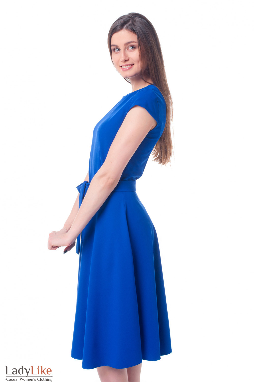 Купить платье электрик с пышной юбкой Деловая женская одежда фото