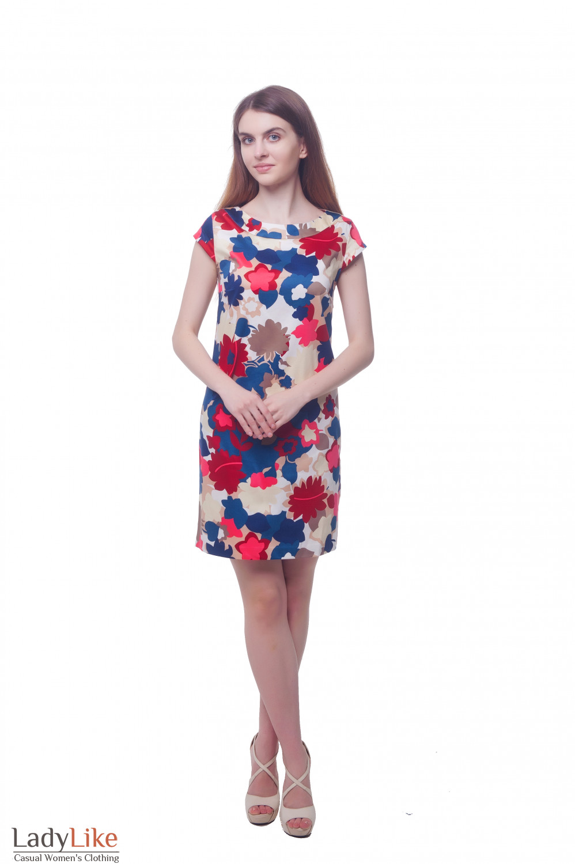 Купить летнее платье с коротким рукавчиком Деловая женская одежда фото