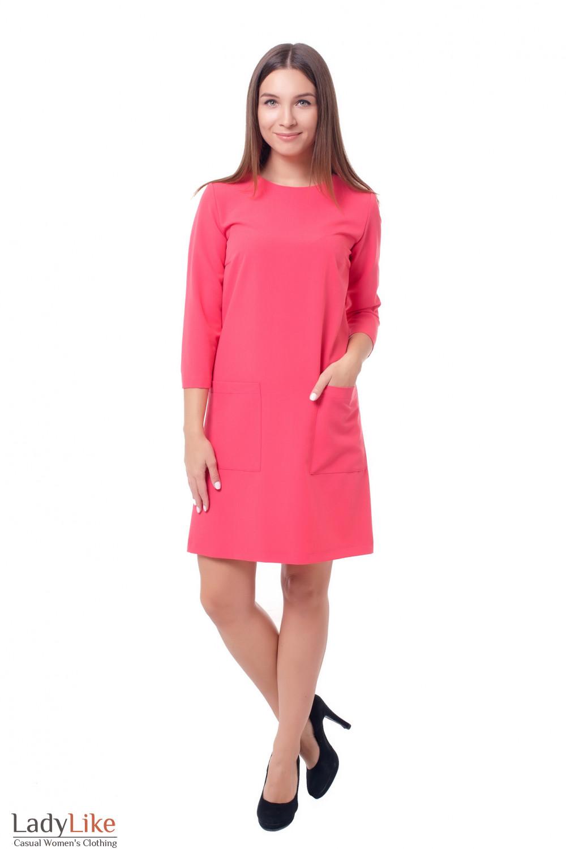 Купить нарядное розовое платье Деловая женская одежда фото
