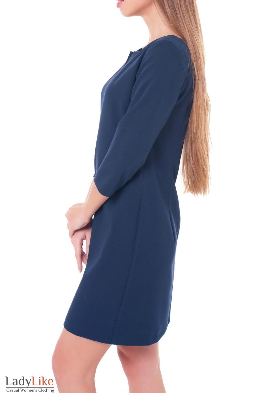 Купить деловое синее платье Деловая женская одежда фото