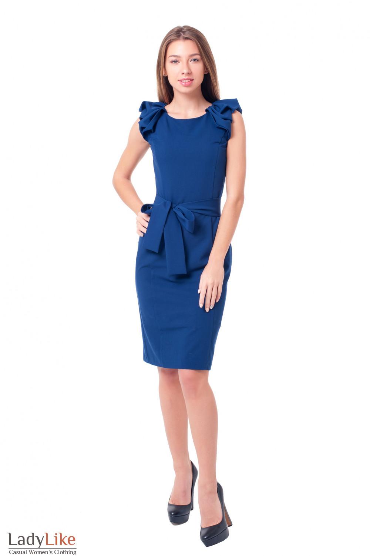 Купить вечернее платье с воланами Деловая женская одежда фото