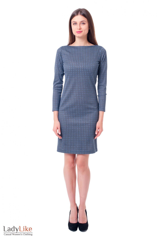 Трикотажное платье-футляр Деловая женская одежда фото