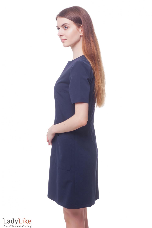Купить деловое платье с накладными карманами Деловая женская одежда фото