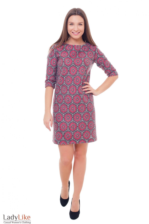 Купить шерстяное платье с кружевом Деловая женская одежда фото