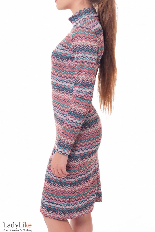 Купить платье трикотажное со стойкой Деловая женская одежда фото