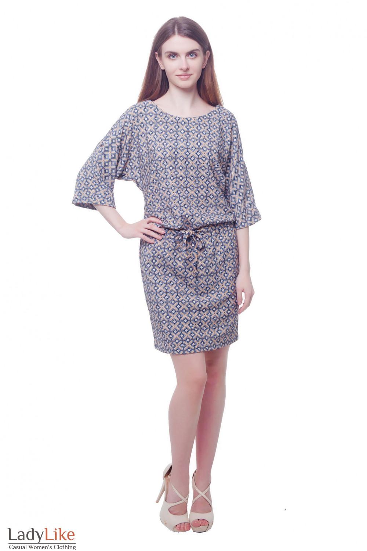 Купить платье с рукавом летучая мышь Деловая женская одежда фото