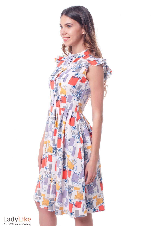Купить летнее платье бледно-розовое Деловая женская одежда фото