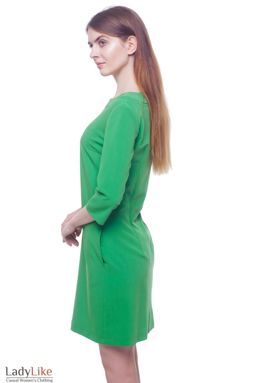 Купить зеленое платье Деловая женская одежда фото