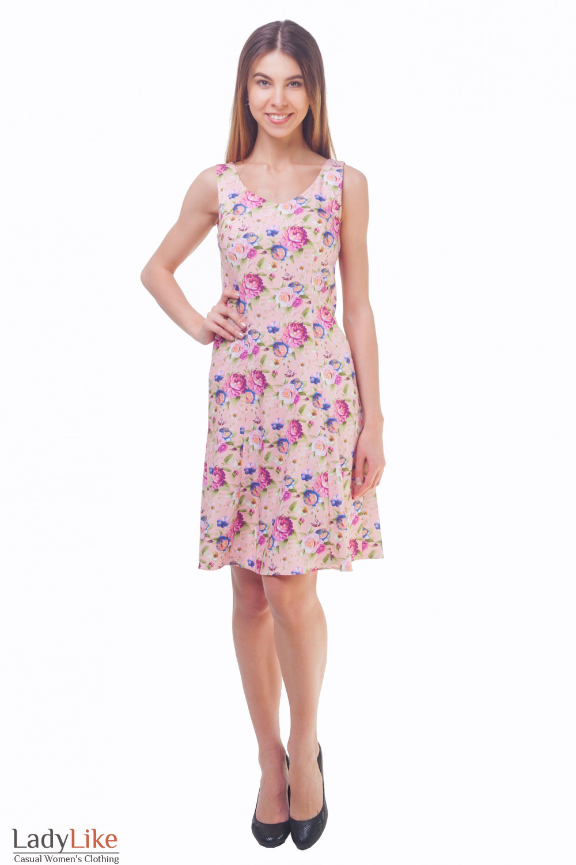 Купить летний сарафан в розы Деловая женская одежда