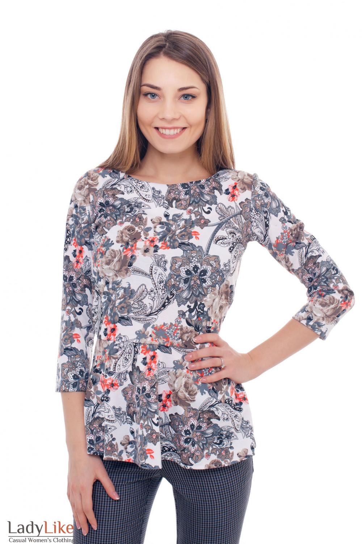 Туника трикотажная с баской Деловая женская одежда фото
