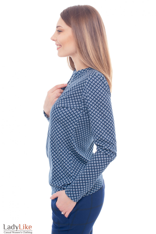 Купить трикотажную тунику в ромашку Деловая женская одежда фото