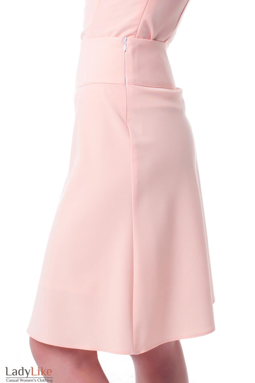 Купить юбку-трапецию розовую Деловая женская одежда фото