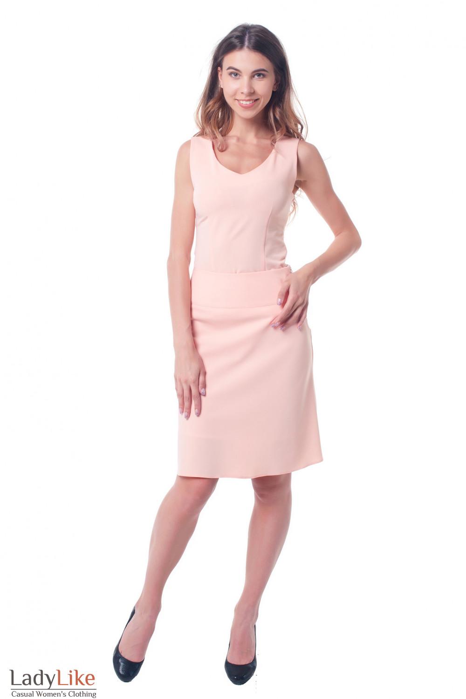 Купить персиковый костюм с топом Деловая женская одежда фото