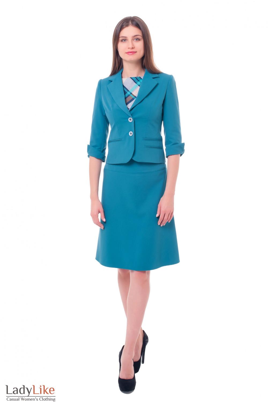 Купить костюм цвета морской волны Деловая женская одежда фото
