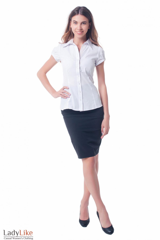 Купить юбку черную с горизонтальными складками Деловая женская одежда фото