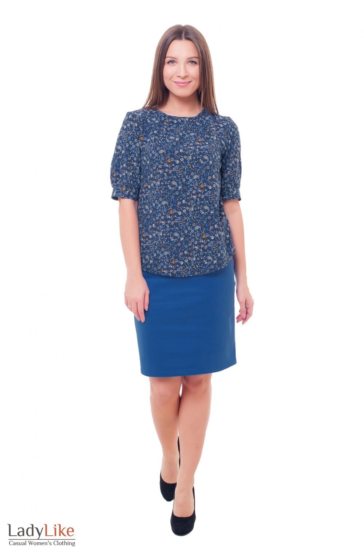 Купить теплую юбку с блузкой Деловая женская одежда фото