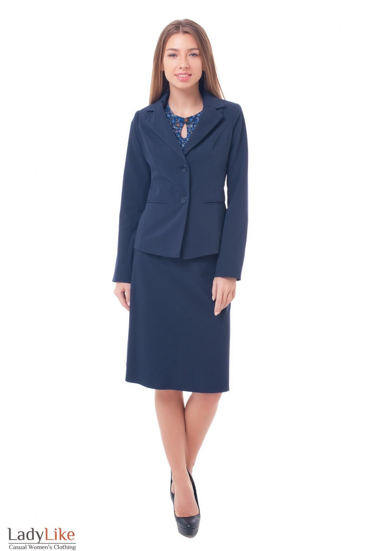 Купить синий деловой костюм Деловая женская одежда фото