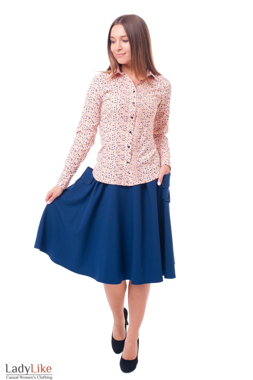 Купить юбку с накладными карманами Деловая женская одежда фото