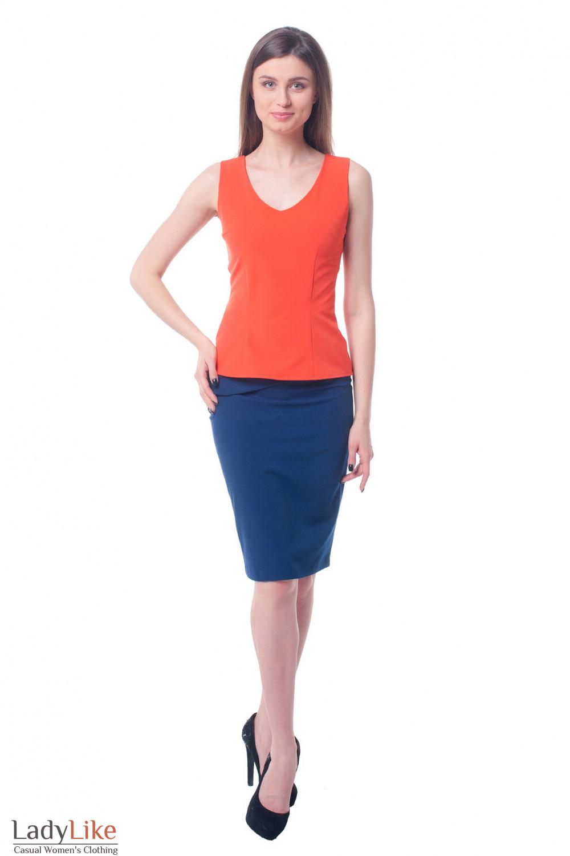 Купить юбку с горизонтальными складками Деловая женская одежда фото