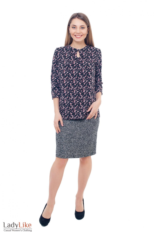 Купить теплую твидовую юбку Деловая женская одежда фото