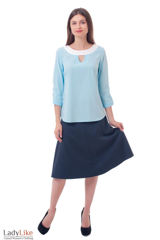 Купить юбку-миди в клетку Деловая женская одежда фото
