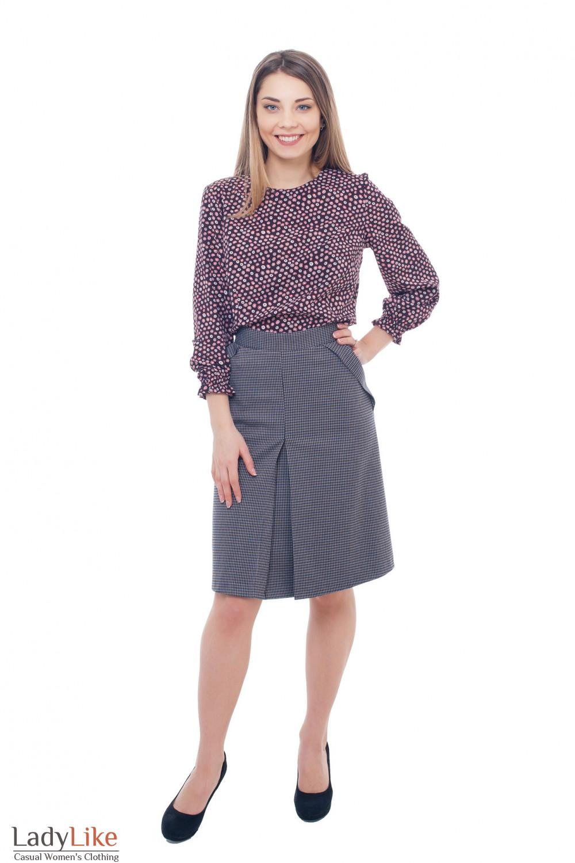 Купить клетчятую юбку Деловая женская одежда фото