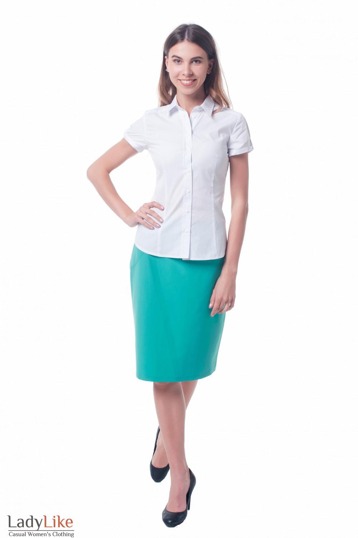 Купить деловую зеленую юбку Деловая женская одежда фото