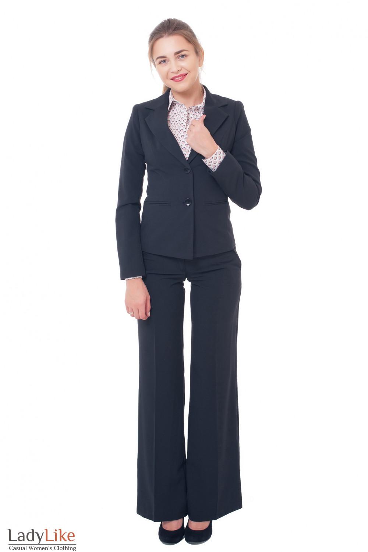 Деловая женская одежда Черный костюм фото