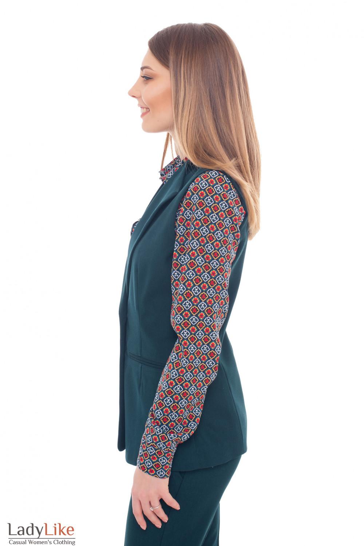 Купить жилет женский теплый зеленый Деловая женская одежда фото