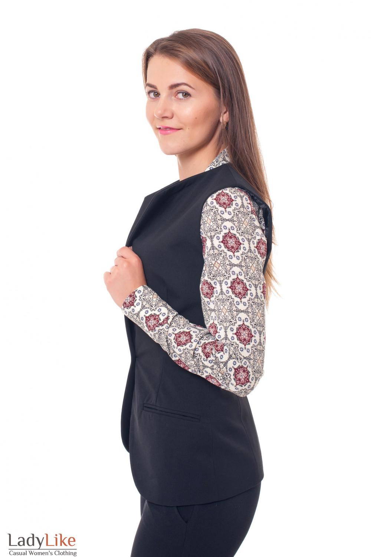 Купить теплую жилетку Деловая женская одежда фото