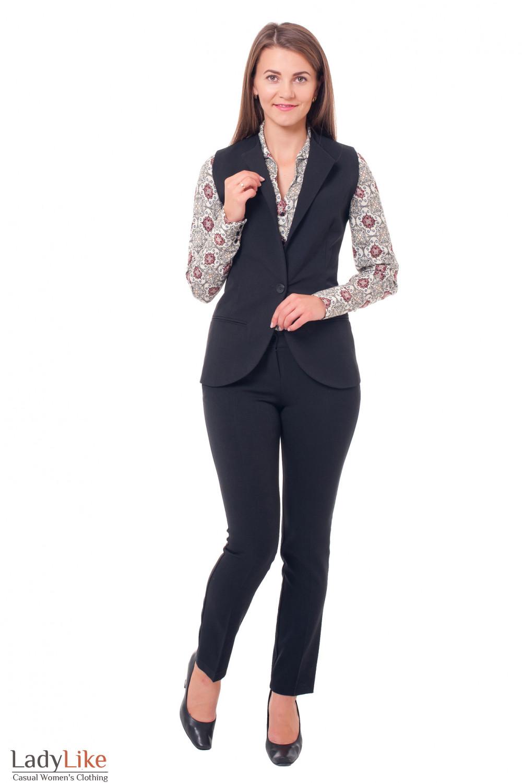 Жилетка удлиненная Деловая женская одежда фото